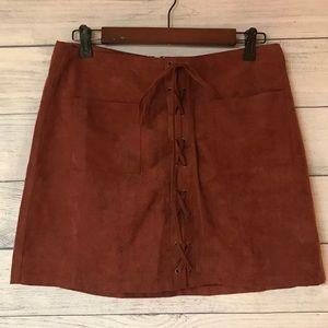 Sweet Wander Rustic Hippie Mini Skirt Large L